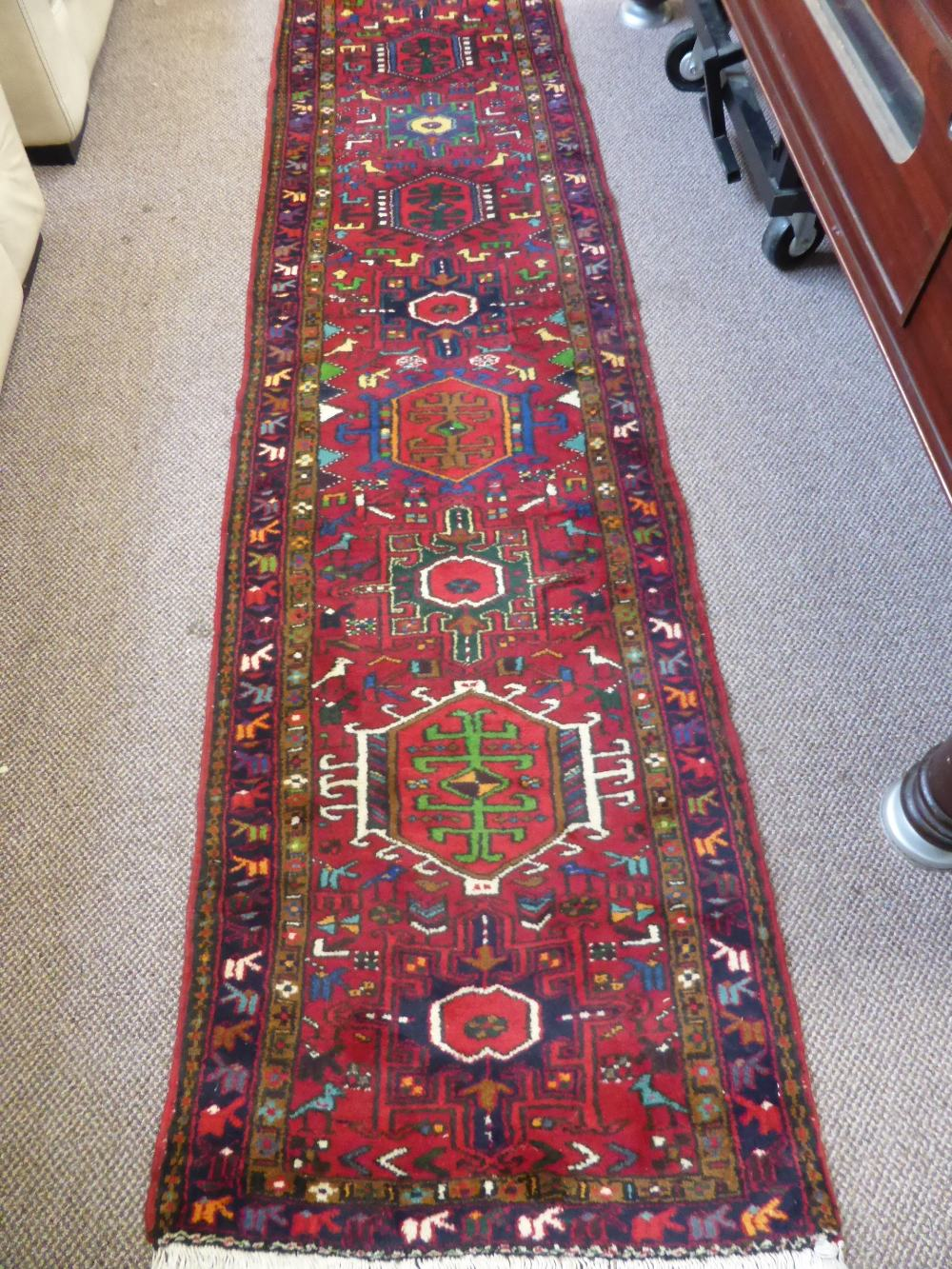 Iranian Karadja Hall Runner £420