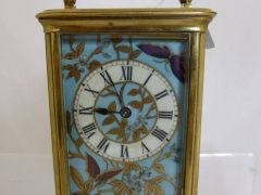 Brass & Enamel Carriage Clock £300