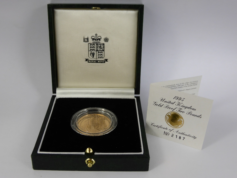 A Royal Mint 1995 £2.00 Gold Proof Coin £380.jpg