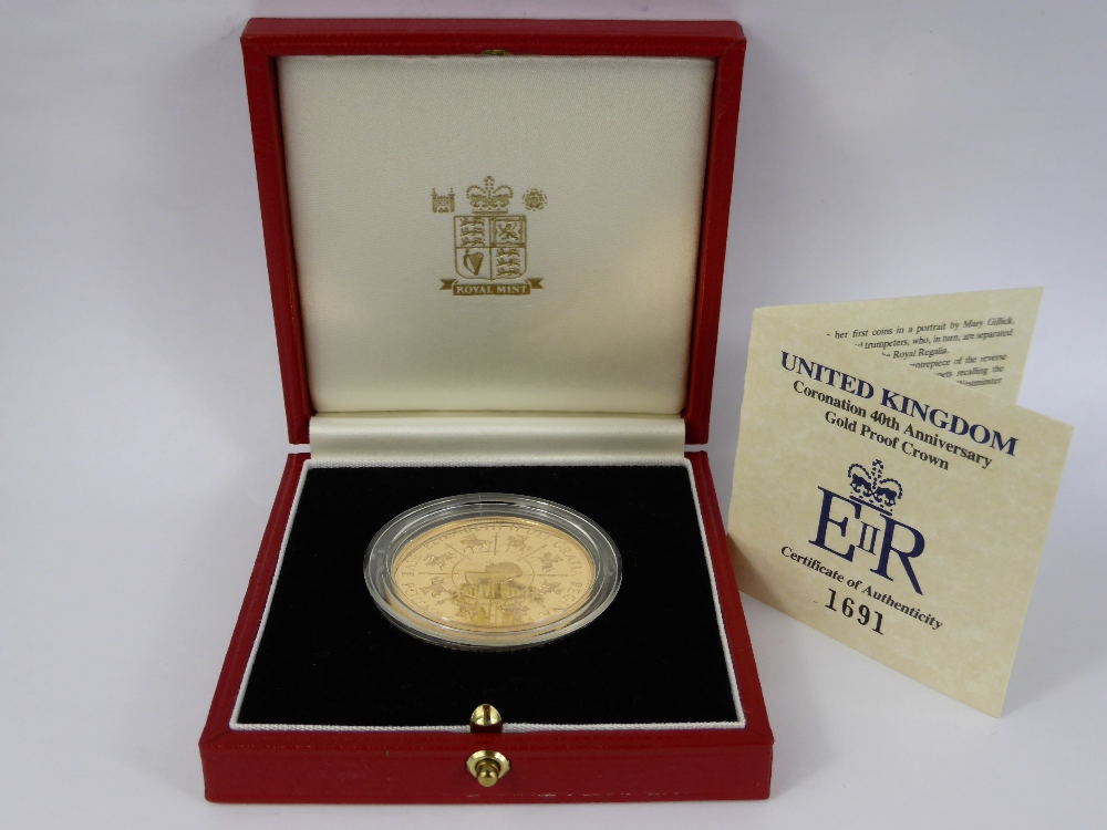 A Royal Mint 40th Anniversary Gold Proof Crown £900.jpg