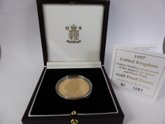 A Royal Mint 1997 Golden Wedding Gold Proof Crown £900.jpg