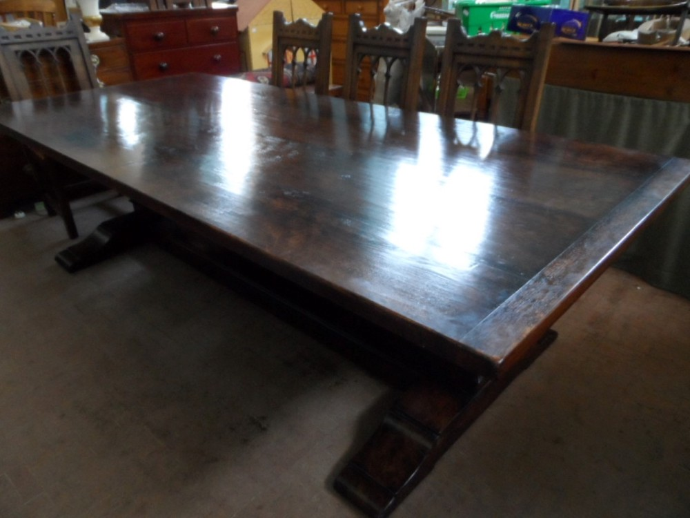 Hand Crafted Reclaimed Oak Refectory Table £750