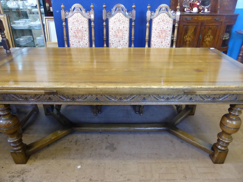 Large Oak Extending Dining Table £700