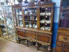 1910 Gillows Walnut Display Cabinet £1200