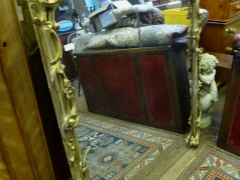 Antique Gilt Wood Mantle Mirror £360