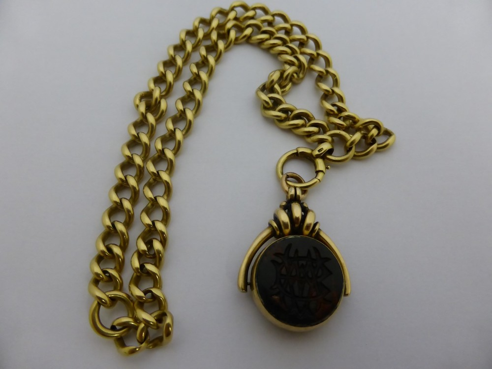 18ct Gold Hallmark Albert Watch Chain £700