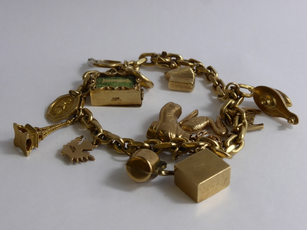 9ct Yellow Gold Charm Bracelet 47gms £360