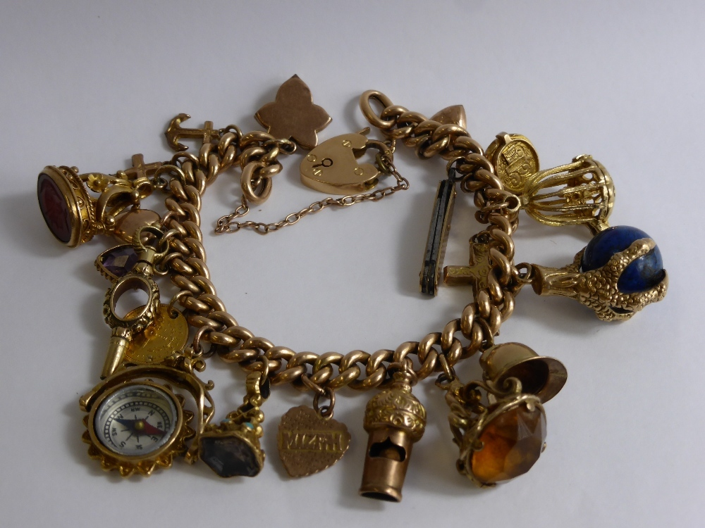 9ct Yellow Gold Charm Bracelet 63gms £540