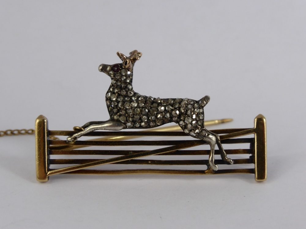 An 18ct Gold & Diamond Deer Brooch £600.jpg