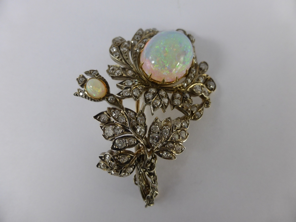 Antique Opal and Diamond Brooch £380