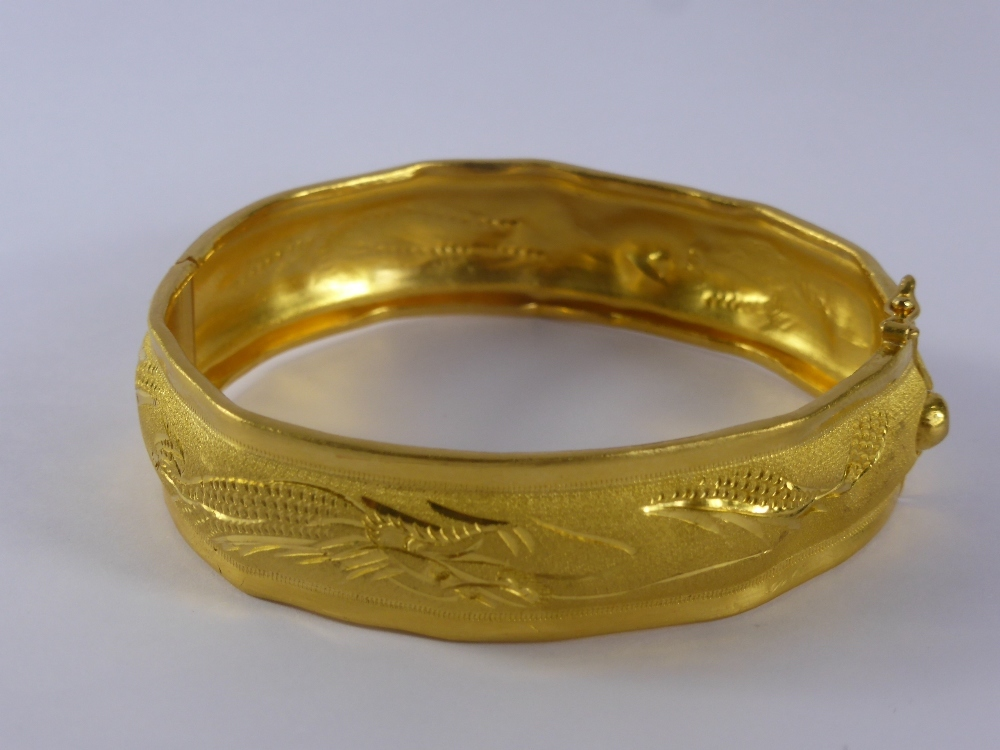 Chinese .999 Fine Gold Wedding Bangle £700