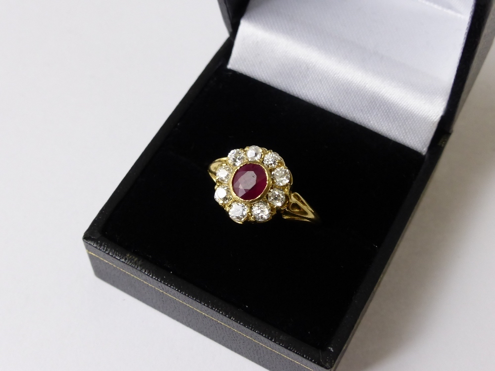 Diamond & Ruby Ring £800