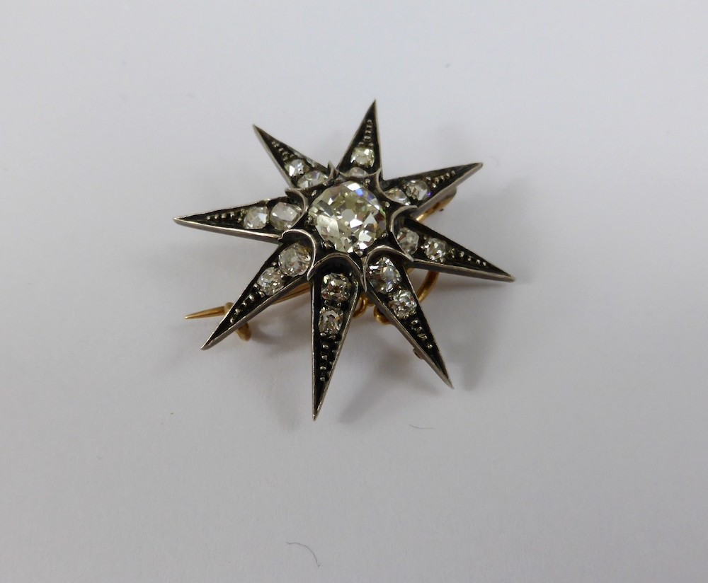 Edwardian Diamond Star Brooch £1050