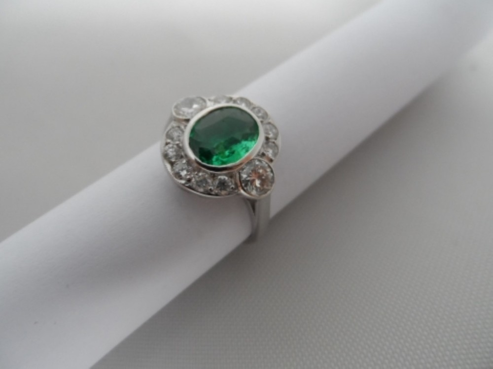 Emerald & Diamond Ring £1700
