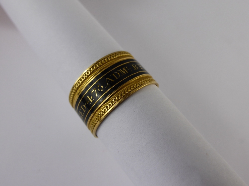 Georgian Gold Mourning Ring £460