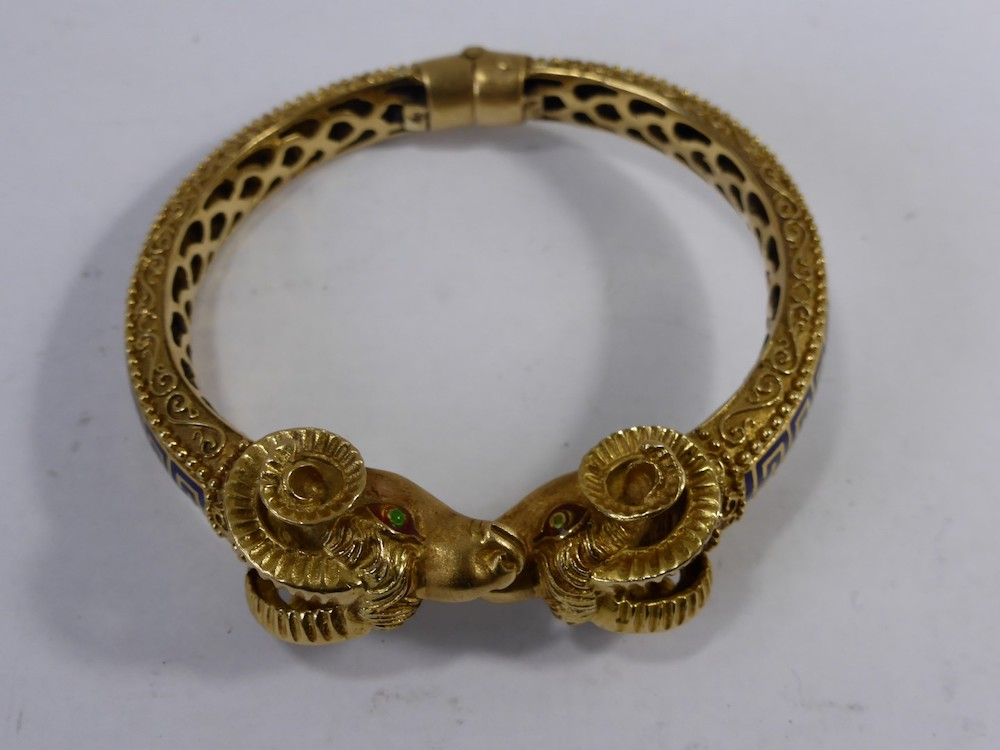 Gold Rams Head Bracelet £750
