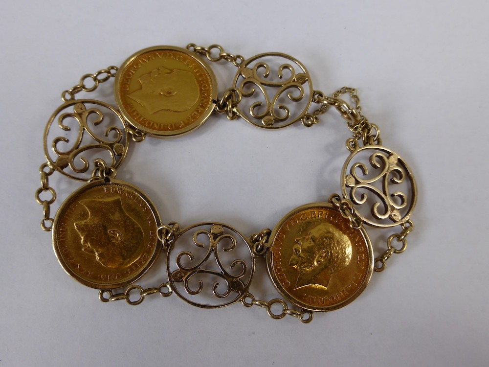 Gold Sovereign Bracelet £560