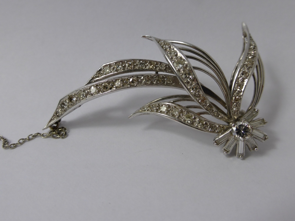 Lady's Platinum and Diamond Floral Brooch £325
