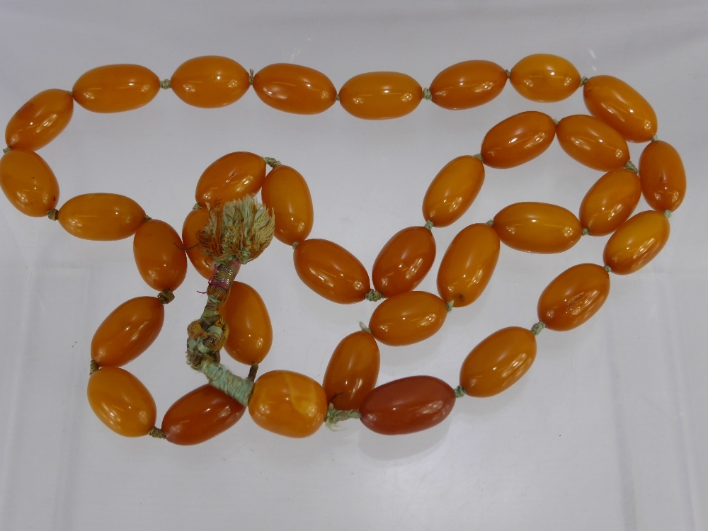 Antique Butterscotch Amber Beads £950