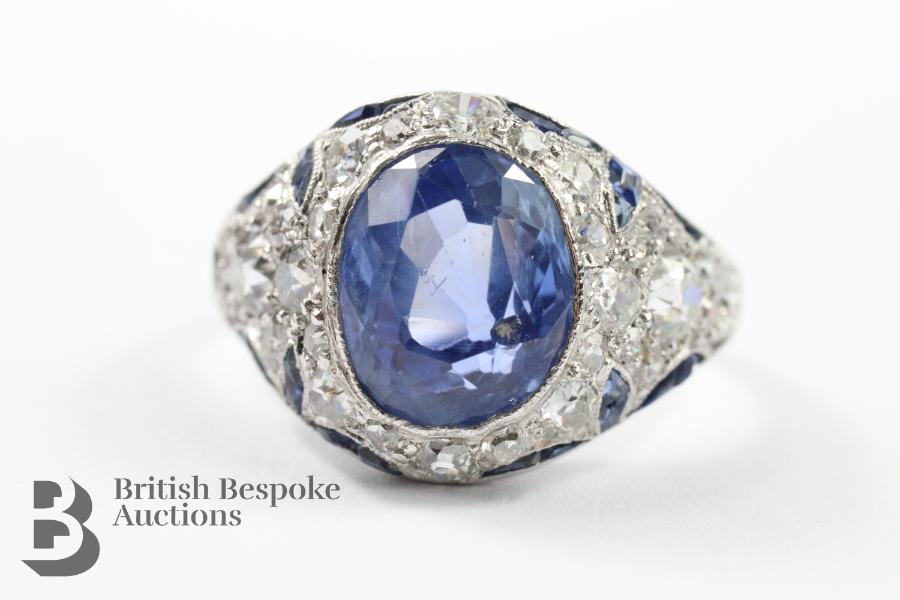 Natural Sri Lankan Cornflower Blue Sapphire Ring £2,600