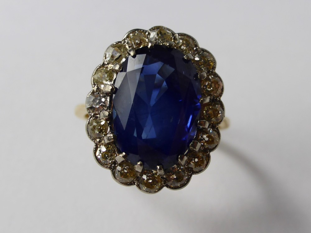 Royal Sapphire and Diamond Ring £12,000
