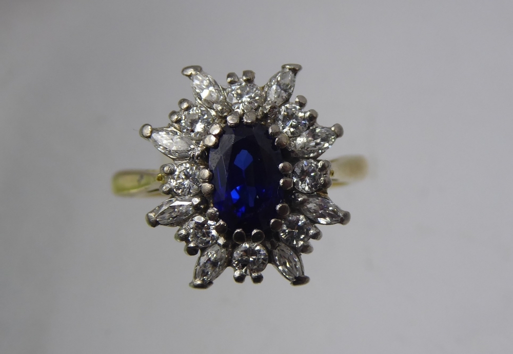 Lady's Sapphire and Diamond Ring £420
