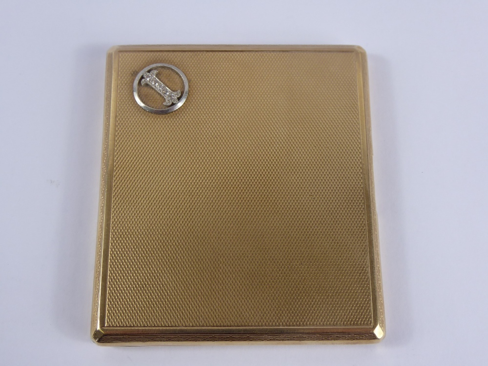 9ct Gold Cigarette Case £1300
