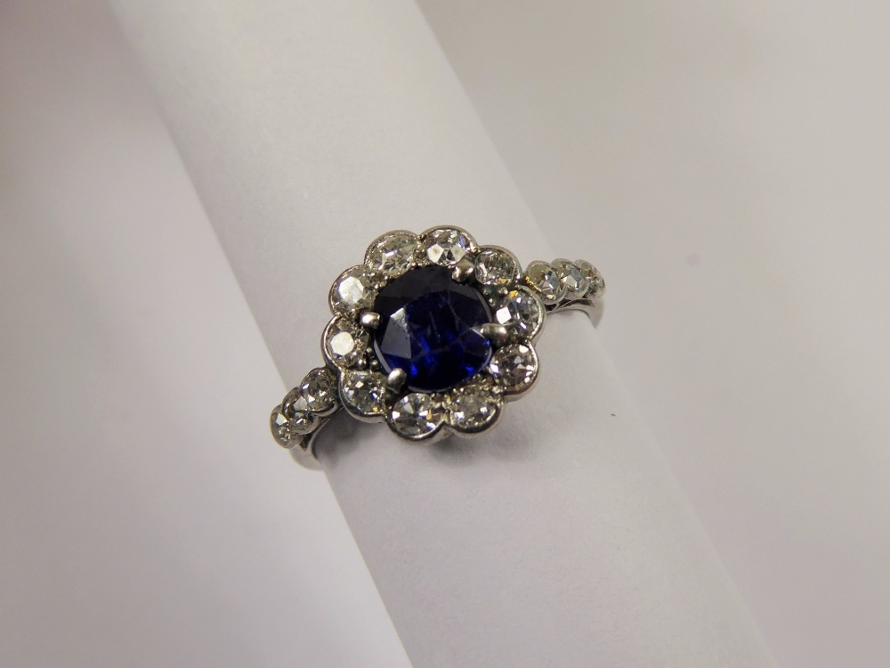 Antique Royal Blue and Diamond Ring £1800