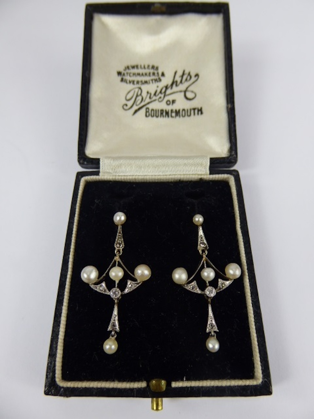Diamond and Pearl Drop Earrings £700