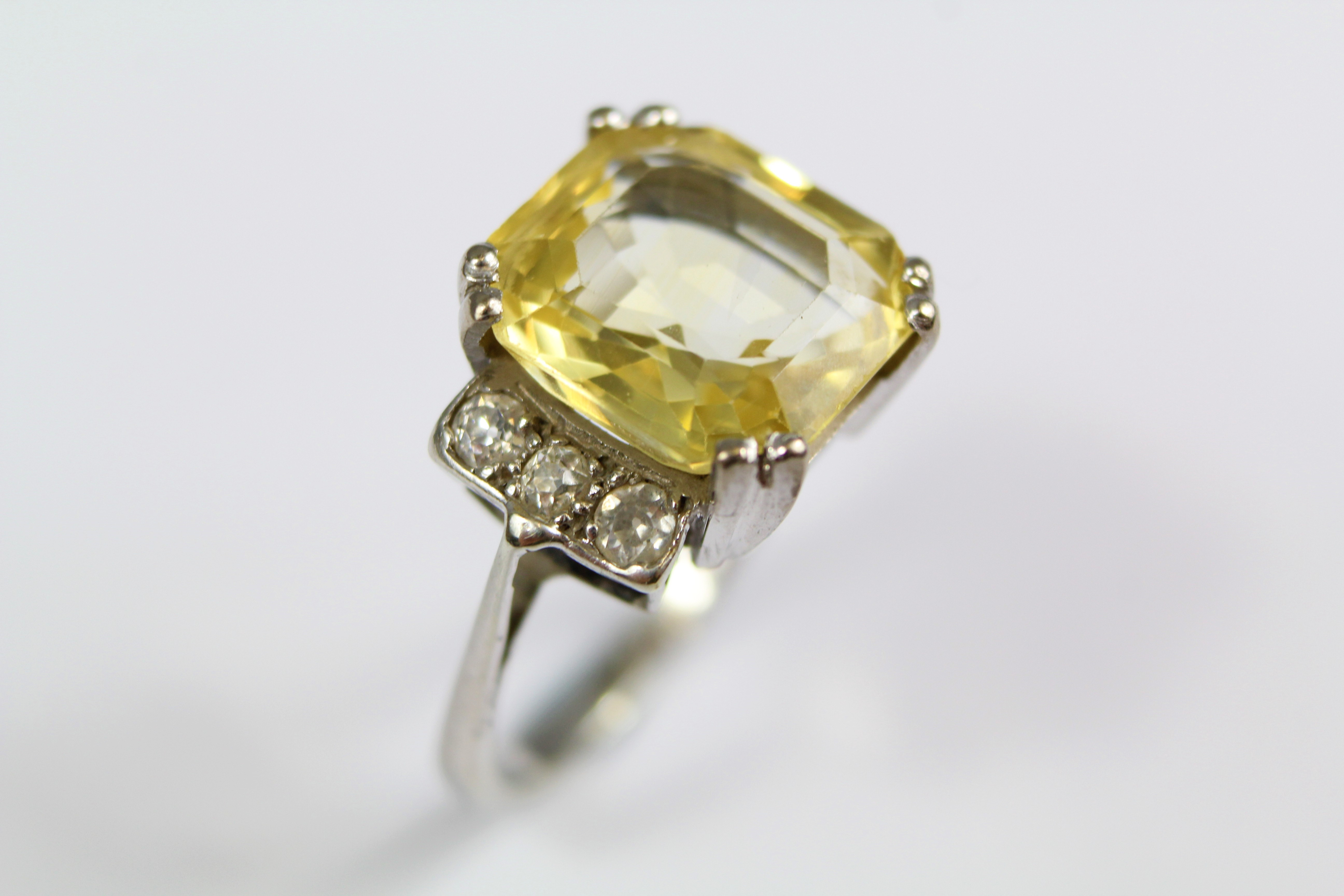Art Deco Natural Yellow Diamond Ring £2800