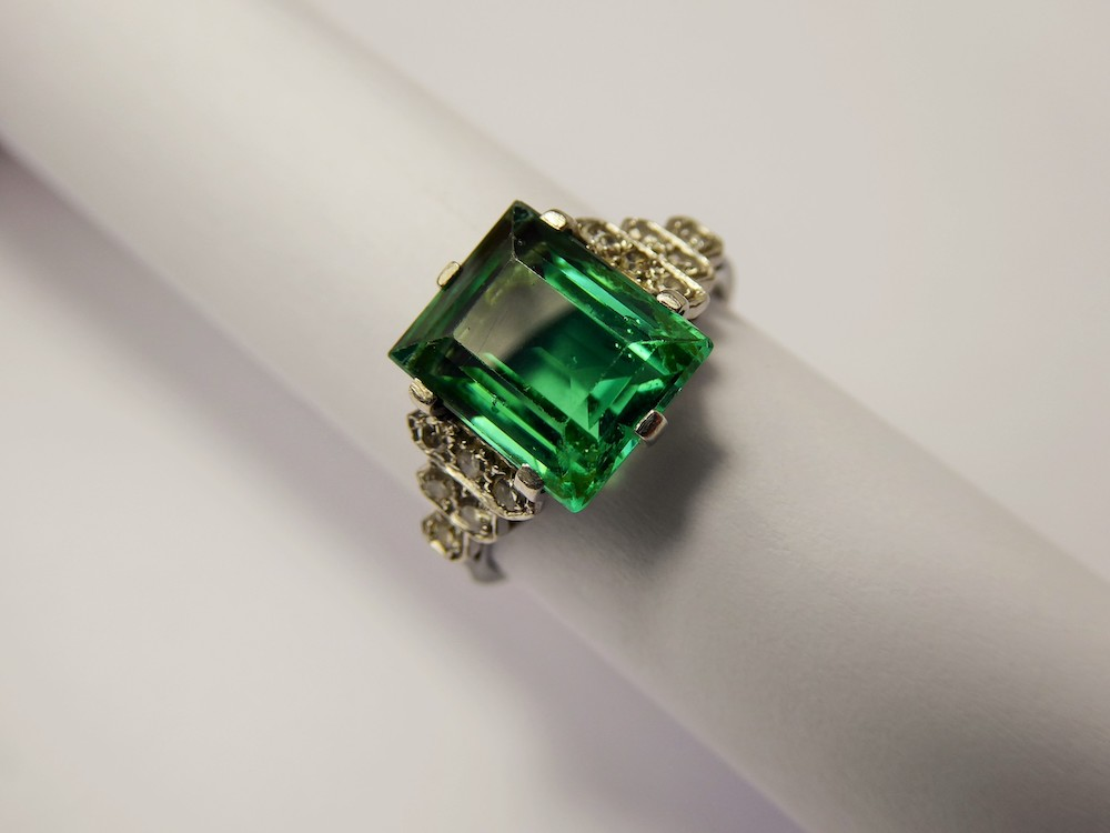 Tourmaline & Diamond Ring £600