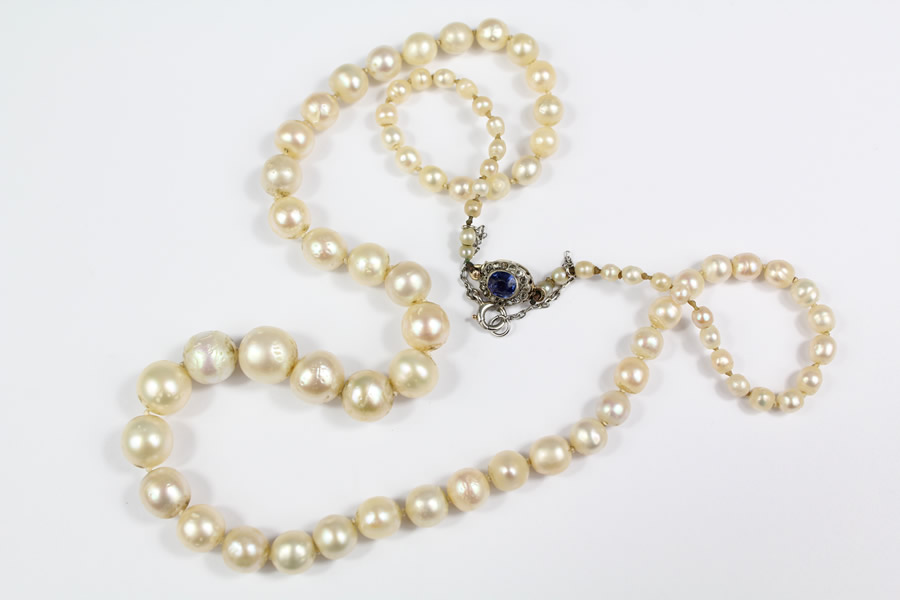 Victorian Natural Pearl necklace £3000