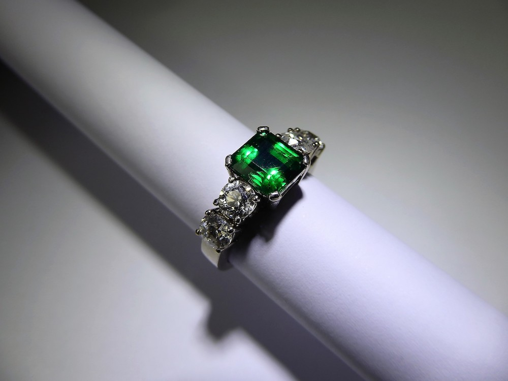 Emerald and Diamond Ring £4000