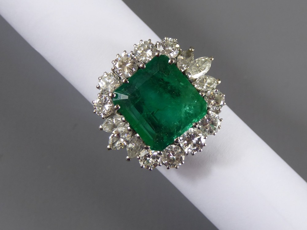 Emerald & Diamond Ring £5700