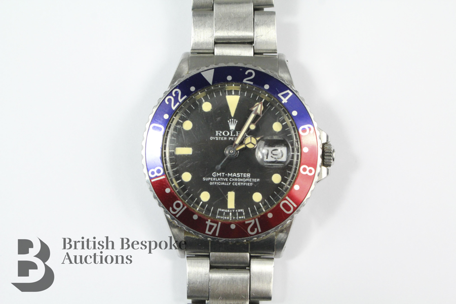 1965 Rolex GMT Master Superlative Chronometer-Wrist- sold for £18,500