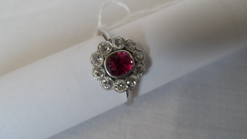 Ruby & Diamond Platinum Ring £650
