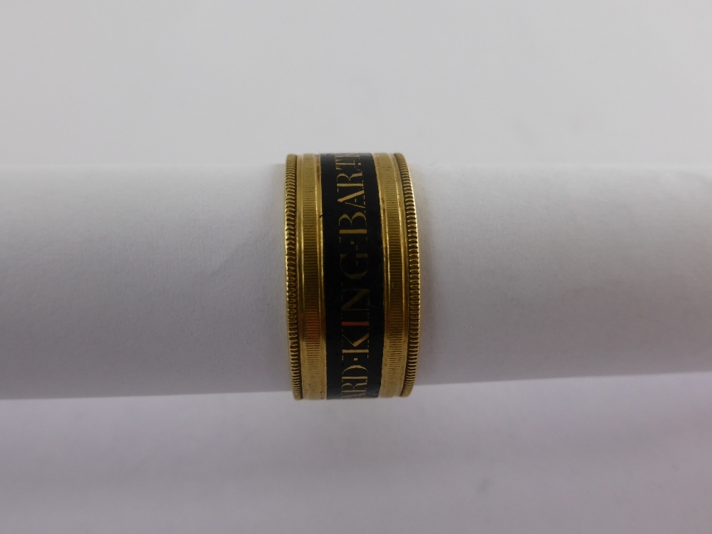 William IV Gold Mourning Ring £650