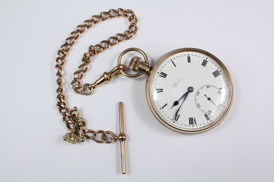 J.W Benson 9ct Yellow Gold Pocket Watch SOLD FOR £750
