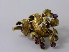 14ct Gold & Tourmaline Brooch £260