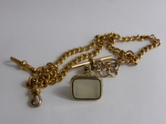 18ct Rose Gold Double Fob Chain 40 gms £700