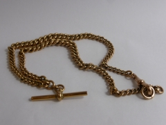 9ct Rose Gold Double Fob Chain 45gms £380