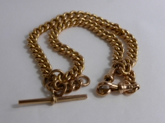 9ct Rose Gold Double Fob Chain 67gms £560