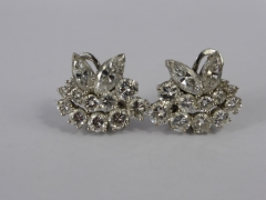 A Pair of Lady's 18ct White Gold & Diamond Earings £1200.jpg