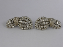 A Pair of Lady's 18ct White Gold & Diamond Earings £1600.jpg