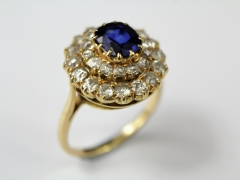 18ct Royal Blue and Sapphire Ring £800