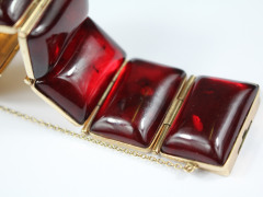 14ct Gold and Amber Bracelet £500