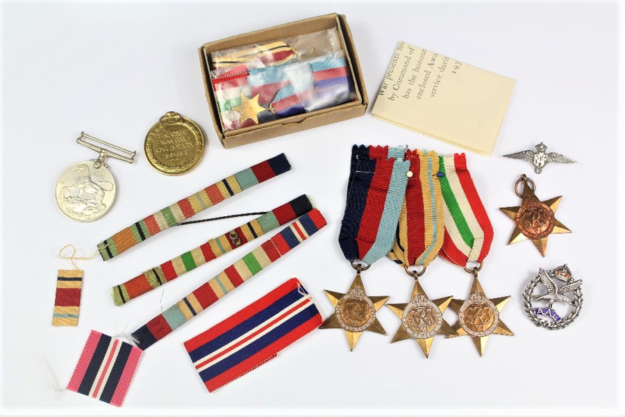 WWII-Medal-Group-SOLD-FOR-£1800-bespoke-auction-february-WW2-medals