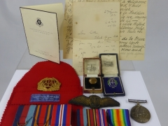 Medals to 2nd Lieut H.J.W. Collins ATA Corp £950