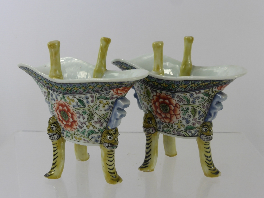 Chinese Famille Vert Libation Cups £340