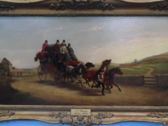 John Charles Maggs (British) 1819-1896 Two Oils on Canvas 'Mail Coach Intercepted by the Hunt' £2000 Lt